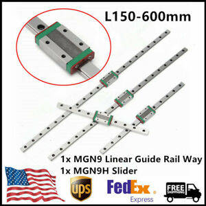 Mgn9 Mini Linear Guide Rail Way L150 600mm W Mgn9h Slider Linear Motion Guide