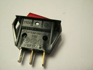 Dreefs Illuminated Rocker Switch Spst 125v 25a Lighted Red Snap in