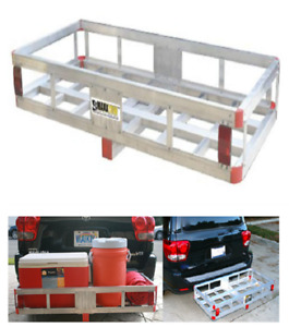 Aluminum Cargo Carrier Rack For Hauling 500 Lb Capacity With High Side Rails New
