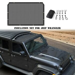 Black Car Top Sunshade Cover Front Half Anti Uv Mesh For Jeep Wrangler Jl 2018