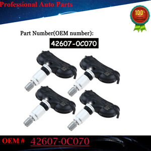 42607 0c070 Set Of 4 Tpms Transmitter Tire Air Pressure Monitor System Sensor