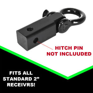 Shackle Hitch Receiver 2 Inch 41918 Lbs Max Capacity With 3 4 D Ring Black