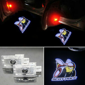2x Led Logo Door Courtesy Projector Light Hd For Dodge Charger Scat Pack 2006 19