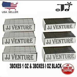 6box 1 Oz Gray And Black Wheel Weights Stick On Adhesive Tape 54 Lbs Lead Free