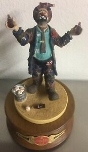 "Collectible Coca-Cola ""Refreshes You Best"" Emmett Kelly 1994 Musical Figurine"