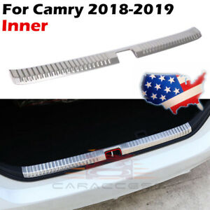Stainless Steel Inner Rear Bumper Protector Guard Cover For Toyota Camry 2018 19