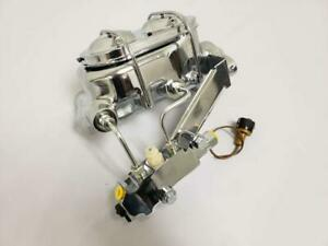 Gm Style Chrome Master Cylinder Kit With Disc Disc Proportioning Valve Lines