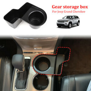 1x Black Car Gear Shift Cup Holder Storage Box For Jeep Grand Cherokee 2011 2018