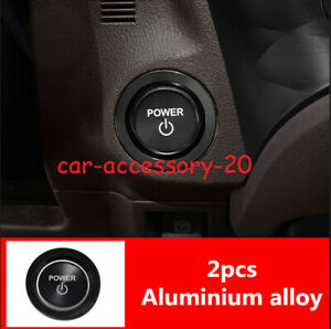 Black Engine Start Stop Button Ignition Key Cover For Lexus Ls500 500h 2018 2019