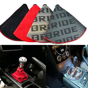Jdm Bride Racing Canvas Shift Knob Shifter Boot Cover Universal Fits Mt at
