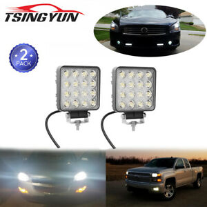 2x Led Light Bar Off Road Driving Fog Lights For Truck Pickup Jeep Boat Tractor