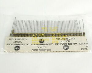 Lot Of 50 Allen Bradley Rcr20g4r7js Carbon Composition Resistors 4 7 Ohms 1 2w