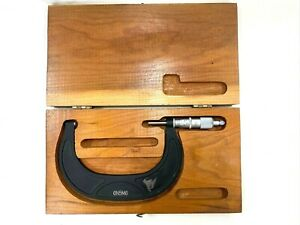 Scherr Tumico Outside Micrometer 4 5 With Case Model 6n5m6