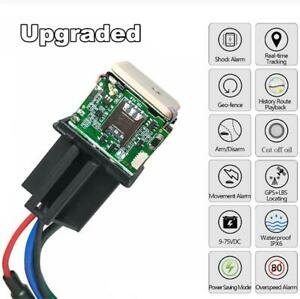 Car Anti Theft Relay Gps Tracker Device Realtime Tracking Monitoring Gsm Locator