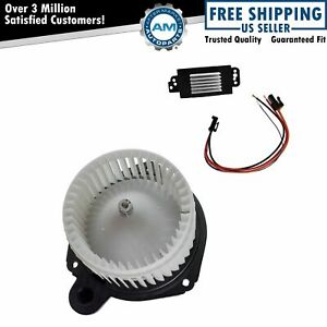 A c Ac Heater Blower Motor W Fan Cage Resistor Kit For Buick Chevy Gmc Saab