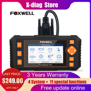 Foxwell Auto Diagnostic Tool Obd2 Scanner Dpf Abs Airbag Sas Epb Oil Tpms Reset