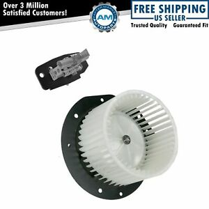 A c Ac Heater Blower Motor W Fan Cage Resistor Kit For Ford Full size Truck