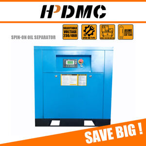 10hp 1 Phase Rotary Screw Air Compressor Variable Frequency Drive 39cfm 230v