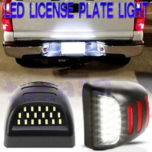 Red Neon Tube Led License Plate Light Lamp For 99 13 Chevy Silverado Avalanche