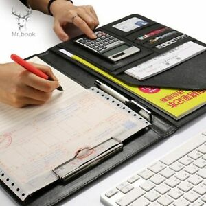 Padfolio Multi Function Office Documents Organizer Leather Folder Planner Note