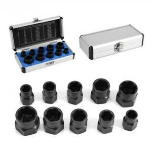 Low Damaged Nut Bolt Remover Stud Extractor Set Broken Screw Removal Tool Set L