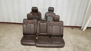 15 Ford F150 King Ranch Seats Front Rear Left Right Brown Leather Dual Power Oem