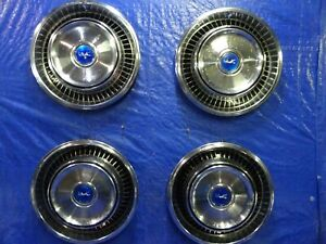 1971 1972 1973 Mercury Cougar 14 Hub Caps Wheel Covers Set Of 4