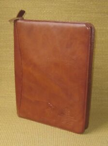 Monarch Padfolio Brown Fine Leather salt Lake 2002 Notepad Cover Notebook