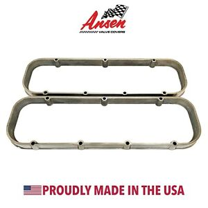 Big Block Chevy Valve Cover Spacers Polished Die Cast Aluminum Ansen Usa