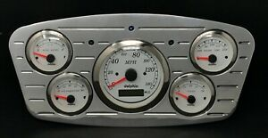 1933 1934 Ford Car 5 Gauge Gps Dash Cluster White