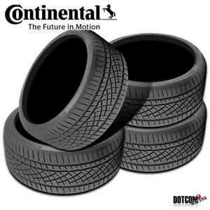 4 X New Continental Extremecontact Dws06 295 35r18 99y All season Radial Tire