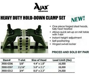 Heavy Duty Hold Down Clamp Kit For All Bridgeport 5 8