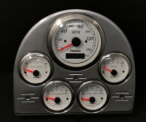 1952 1953 Ford Car Gps Gauge Cluster White