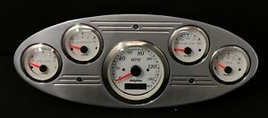 1932 1933 1934 Ford Truck Gps 5 Gauge Cluster White