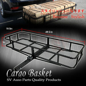 Fit Dodge Rear Hitch Receiver Cargo Rack Luggage Carrier Foldable Basket Storage