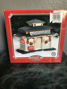 American Classic Collection Coca Cola Train Depot 1995 Christmas Village Town