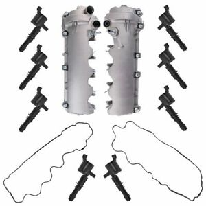 Engine Valve Cover Gaskets Ignition Coil Kit Set For Ford Lincoln New