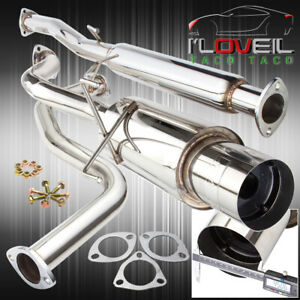 For 1992 2000 Honda Civic 60 65mm T304 Stainless Steel Catback Exhaust System