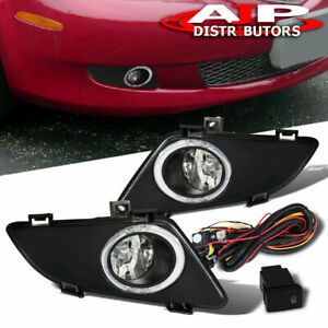 For 03 05 Mazda 6 Jdm Chrome Clear Lens Fog Light Upgrade Replacement