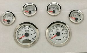 Dolphin Gauges 6 Gps Street Rod Gauge Set Street Rod Hot Rod Universal
