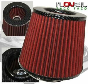 Carbon Fiber 3 High Performance Filter For Cold Air Short Ram Intake For Nissan