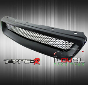 For 96 98 Honda Civic Lx Ex Ek Jdm Type r Replacement Front Grille Grill Black