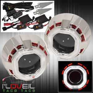 For Gmc 2 5 Bi Xenon Headlight Retrofit Projector Dual Ccfl Halo Ring H1 Hid