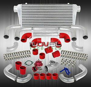 31 X11 Big Front Bar Plate Intercooler Red Blow Off Valve Silicone Couplers