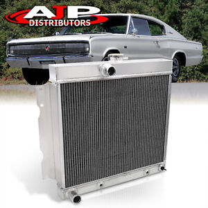 3 row Racing Aluminum Radiator For 1963 1969 Plymouth Fury Dodge Charger Dart
