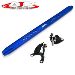 For 96 00 Honda Civic Lx Ex Jdm Rear Upper Cross Weave Strut Wide Bar Brace Blue