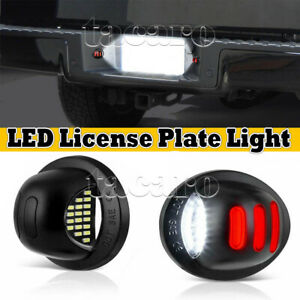 For Ford F 150 F 250 F 350 2001 2014 Red Neon Tube Led License Plate Light Lamp