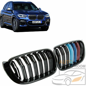3 color Black Double Slat Front Kidney Grille Grill For Bmw F25 X3 F26 X4 15 17