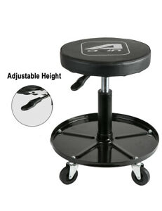 Lt012 Adjustable Mechanics Rolling Seat Mechanics Stool With Hydraulic Tool Tray