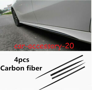 Carbon Fiber Car Door Body Kit Side Skirts Cover For Benz A class A220 W177 2019